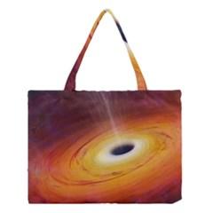 Black Hole Medium Tote Bag by Sapixe