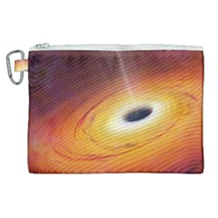 Black Hole Canvas Cosmetic Bag (xl) by Sapixe