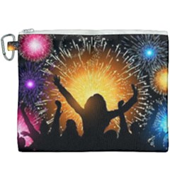 Celebration Night Sky With Fireworks In Various Colors Canvas Cosmetic Bag (xxxl)