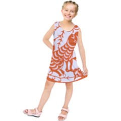 Chinese Zodiac Dog Kids  Tunic Dress