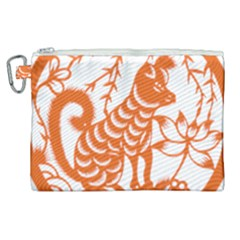 Chinese Zodiac Dog Canvas Cosmetic Bag (xl) by Sapixe
