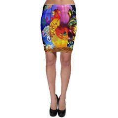 Chinese Zodiac Signs Bodycon Skirt by Sapixe