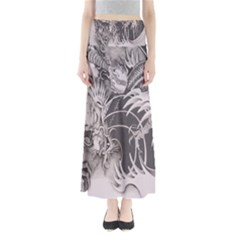 Chinese Dragon Tattoo Full Length Maxi Skirt by Sapixe