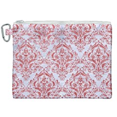 Damask1 White Marble & Red Glitter (r) Canvas Cosmetic Bag (xxl) by trendistuff