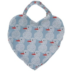 Christmas Wrapping Papers Giant Heart Shaped Tote