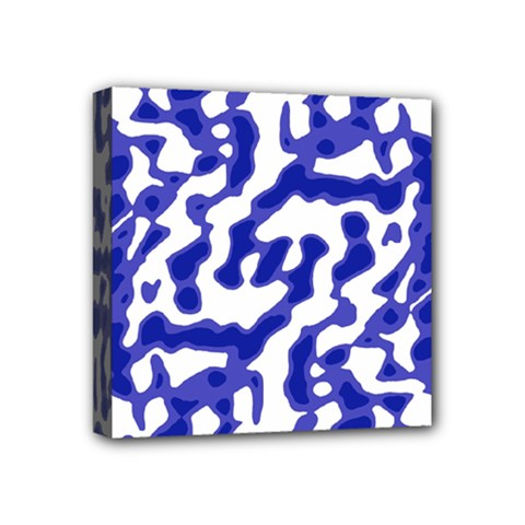 Bright Abstract Camo Pattern Mini Canvas 4  X 4  by dflcprints