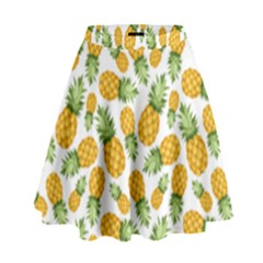 Pineapple Pattern High Waist Skirt by goljakoff