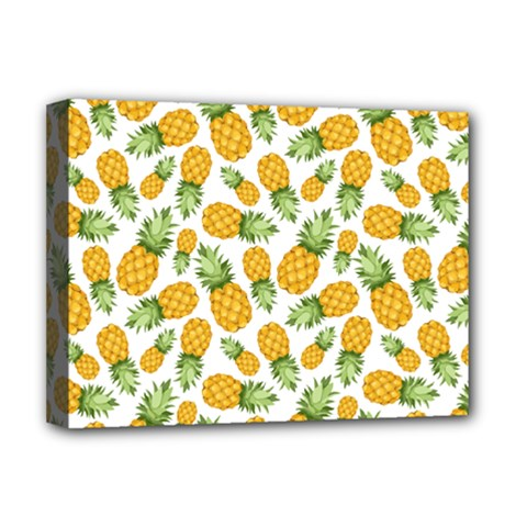 Pineapple Pattern Deluxe Canvas 16  X 12   by goljakoff