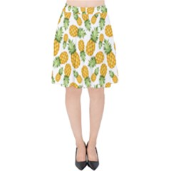 Pineapple Pattern Velvet High Waist Skirt by goljakoff
