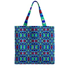 Artwork By Patrick Colorful 26 Zipper Grocery Tote Bag