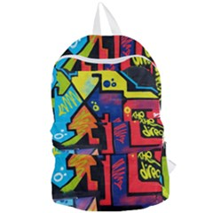Urban Graffiti Movie Theme Productor Colorful Abstract Arrows Foldable Lightweight Backpack by MAGA