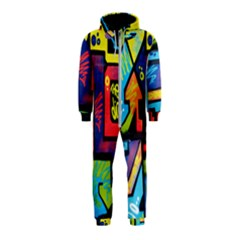 Urban Graffiti Movie Theme Productor Colorful Abstract Arrows Hooded Jumpsuit (kids)