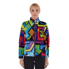 Urban Graffiti Movie Theme Productor Colorful Abstract Arrows Winterwear by MAGA