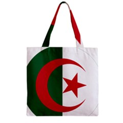 Roundel Of Algeria Air Force Zipper Grocery Tote Bag by abbeyz71