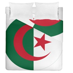 Roundel Of Algeria Air Force Duvet Cover Double Side (queen Size) by abbeyz71