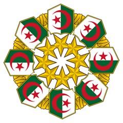 Badge Of The Algerian Air Force  Folding Umbrellas by abbeyz71