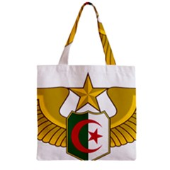 Badge Of The Algerian Air Force  Zipper Grocery Tote Bag by abbeyz71