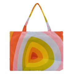 Graffiti Orange Lime Power Blue And Pink Spherical Abstract Retro Pop Art Design Medium Tote Bag by MAGA