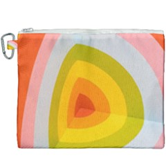 Graffiti Orange Lime Power Blue And Pink Spherical Abstract Retro Pop Art Design Canvas Cosmetic Bag (xxxl)