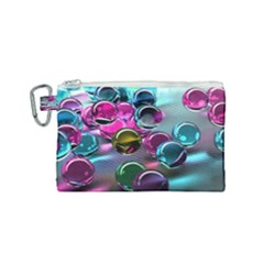 Colorful Balls Of Glass 3d Canvas Cosmetic Bag (small) by Sapixe