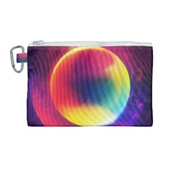 Colorful Glowing Canvas Cosmetic Bag (large) by Sapixe