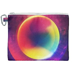 Colorful Glowing Canvas Cosmetic Bag (xxl) by Sapixe