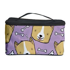 Dog Pattern Cosmetic Storage Case by Sapixe