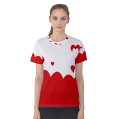 Heart Shape Background Love Women s Cotton Tee