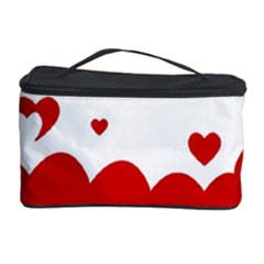 Heart Shape Background Love Cosmetic Storage Case