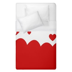 Heart Shape Background Love Duvet Cover (single Size)