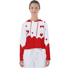 Heart Shape Background Love Women s Slouchy Sweat