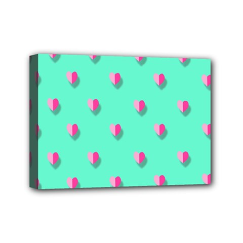Love Heart Set Seamless Pattern Mini Canvas 7  X 5