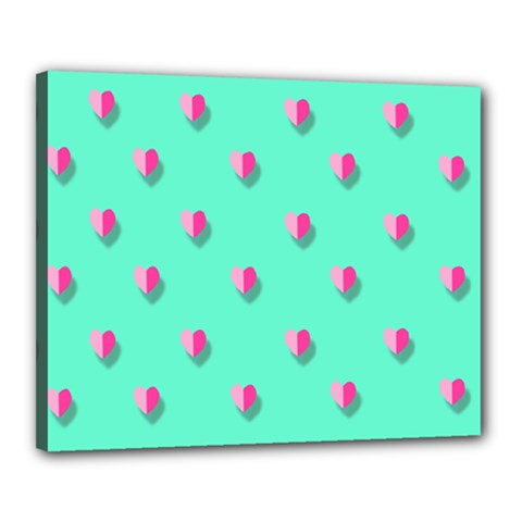 Love Heart Set Seamless Pattern Canvas 20  X 16