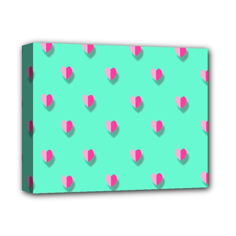 Love Heart Set Seamless Pattern Deluxe Canvas 14  X 11
