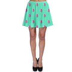 Love Heart Set Seamless Pattern Skater Skirt