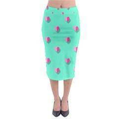 Love Heart Set Seamless Pattern Midi Pencil Skirt