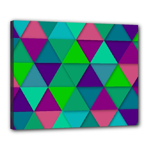 Background Geometric Triangle Canvas 20  X 16