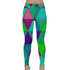 Background Geometric Triangle Classic Yoga Leggings