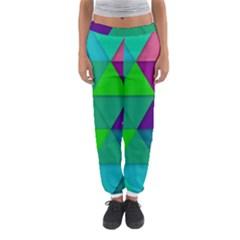 Background Geometric Triangle Women s Jogger Sweatpants