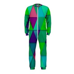 Background Geometric Triangle Onepiece Jumpsuit (kids)