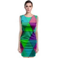 Background Geometric Triangle Classic Sleeveless Midi Dress
