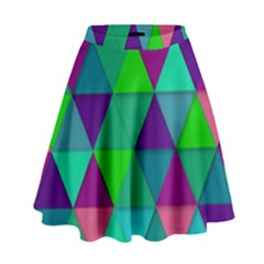 Background Geometric Triangle High Waist Skirt