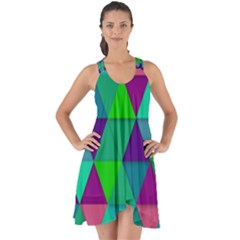 Background Geometric Triangle Show Some Back Chiffon Dress