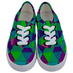 Background Geometric Triangle Kids  Classic Low Top Sneakers