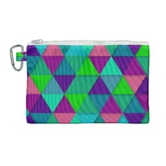Background Geometric Triangle Canvas Cosmetic Bag (large) by Nexatart