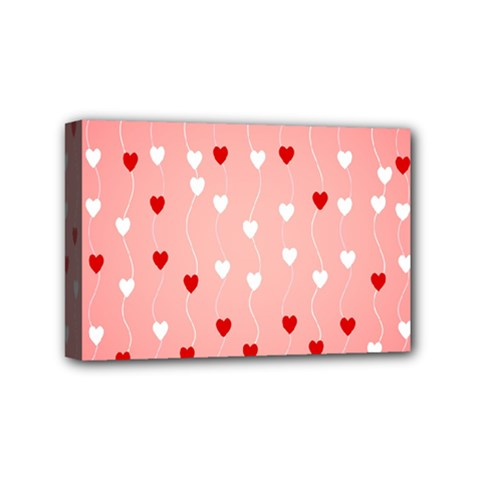 Heart Shape Background Love Mini Canvas 6  X 4