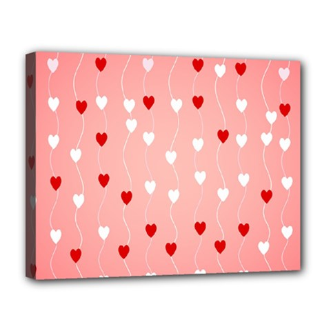 Heart Shape Background Love Canvas 14  X 11