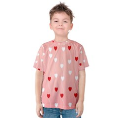 Heart Shape Background Love Kids  Cotton Tee