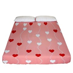 Heart Shape Background Love Fitted Sheet (california King Size)