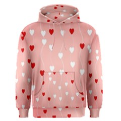 Heart Shape Background Love Men s Pullover Hoodie
